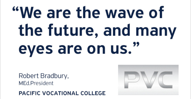 Exciting New Partnership! PMP is Teaming With Pacific Vocational College image